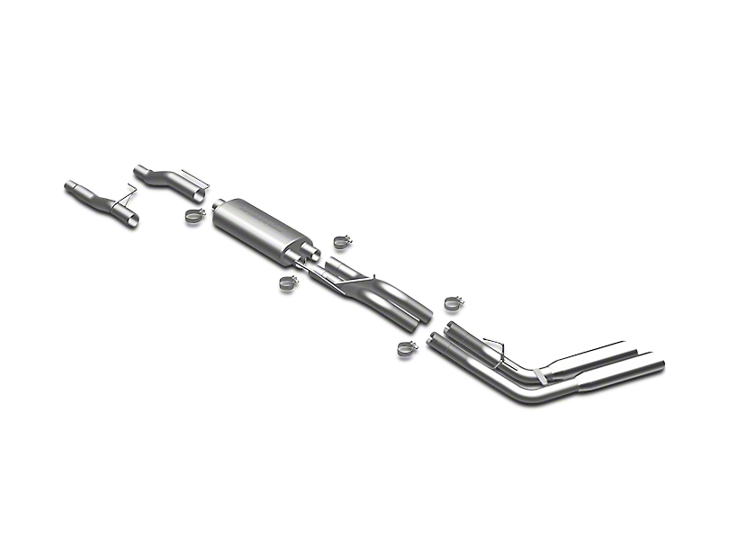 Magnaflow MF Series Dual Exhaust System - Same Side Exit - After Rear Tire (09-10 4.6L F-150)
