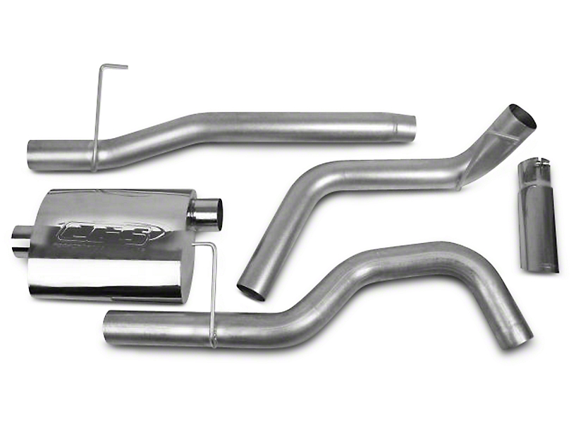 CGS Motorsports Aluminized Single Exhaust System - Side Exit (04-08 5.4L F-150)