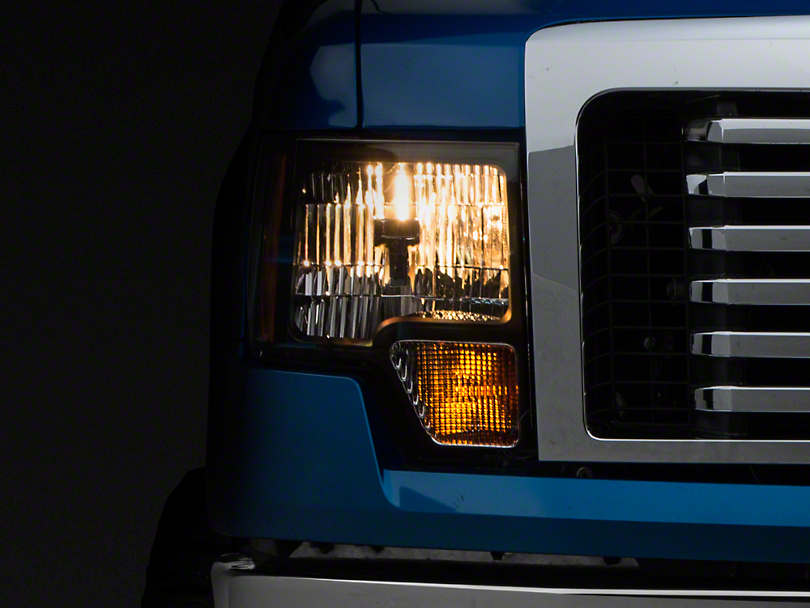 Axial Amber Crystal Headlights - Black (09-14 w/o Factory HID)
