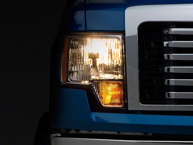 Axial Amber Crystal Headlights - Chrome (09-14 w/o Factory HID)