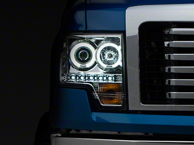 Axial Chrome Projector Headlights w/ CCFL Halo (09-14 F-150 w/o Factory HID)