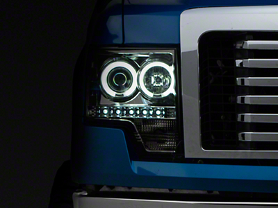 Axial Smoked Projector Headlights w/ CCFL Halo (09-14 F-150 w/o Factory HID)