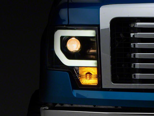 Axial Black Projector Headlights w/ DRL LightBar (09-14 F-150 w/o Factory HID)