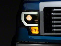 Light Bar DRL Projector Headlights - Black (09-14 F-150 w/o Factory HID Headlights)