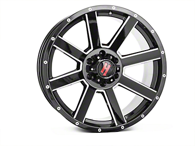 Havok Off-Road H107 Black Milled 6-Lug Wheel - 20X9 (15-19 F-150)