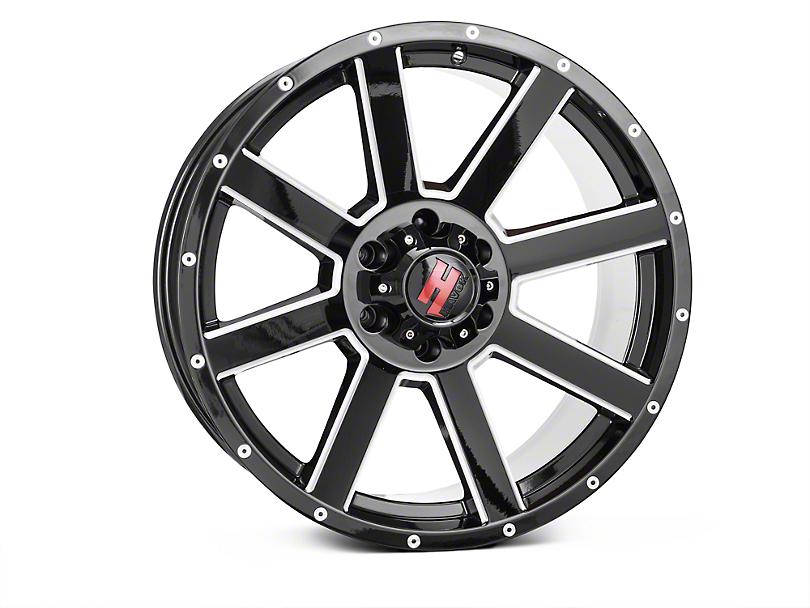 Havok Off-Road H108 Black Milled 6-Lug Wheel - 20X9; -12mm Offset (15-19 F-150)
