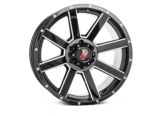 Havok Off-Road H109 Black Milled 6-Lug Wheel - 20x9; -12mm Offset (04-08 F-150)