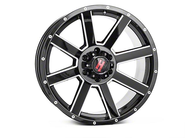 Havok Off-Road H109 Black Milled 6-Lug Wheel - 20x9; -12mm Offset (15-19 F-150)