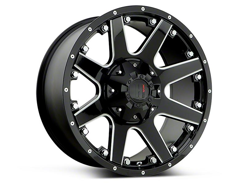 Havok Off-Road H102 Black Milled 6-Lug Wheel - 17x9 (15-17 All)