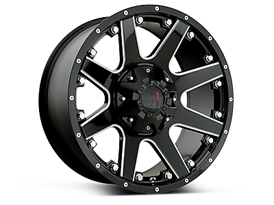 Havok Off-Road H102 Black Milled 6-Lug Wheel - 17x9 (15-19 F-150)