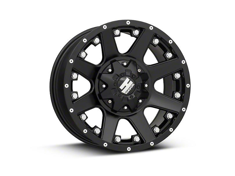 Havok Off-Road H102 Matte Black 6-Lug Wheel - 17x9 (15-18 All)