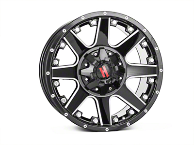 Havok Off-Road H102 Black Milled 6-Lug Wheel - 18x9 (04-08 F-150)
