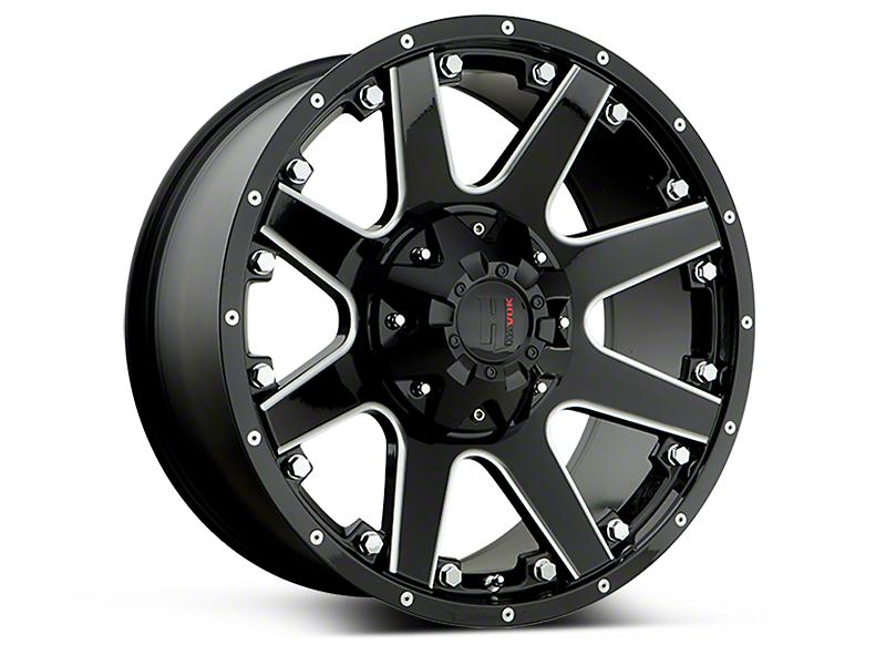 Havok Off-Road H102 Black Milled 6-Lug Wheel - 18x9 (15-17 All)