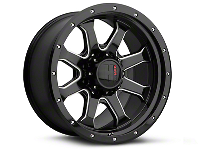 Havok Off-Road H105 Black Milled 6-Lug Wheel - 20x9 (15-18 F-150)