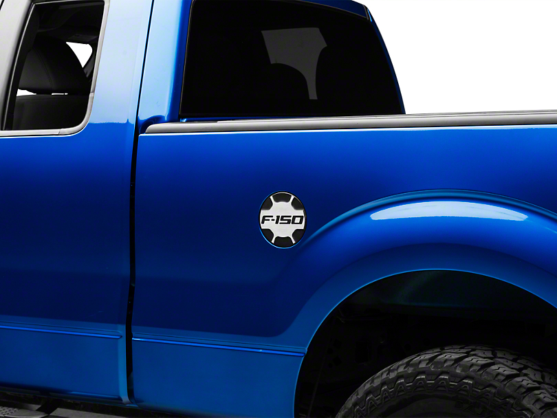 Defenderworx F 150 Non Locking Fuel Door W F 150 Logo