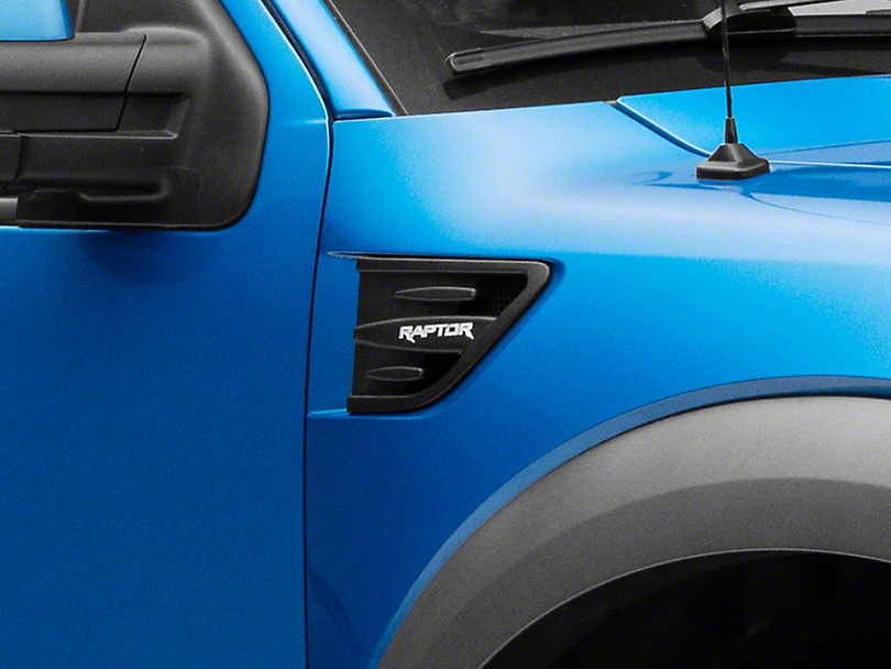 Defenderworx Side Vents w/ Raptor Logo - Matte Black (10-14 F-150 Raptor)