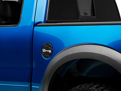 Defenderworx Non-Locking Fuel Door w/ Raptor Logo - Matte Black (10-14 F-150 Raptor)