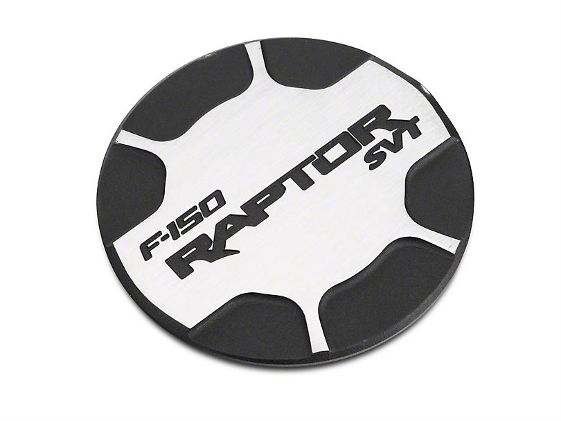 Defenderworx Non-Locking Fuel Door w/ Raptor Logo - Brushed Two Tone (10-14 F-150 Raptor)