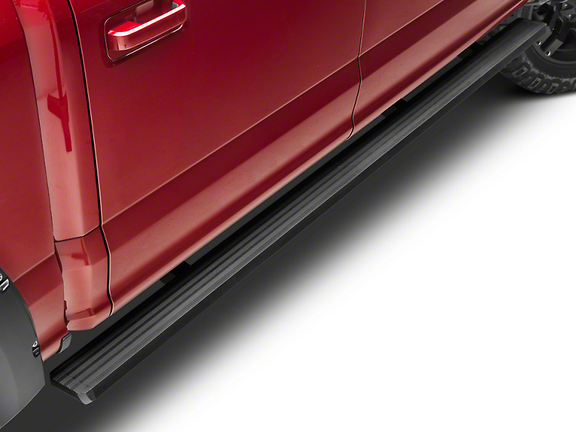 Barricade Aluminum Running Boards - Black (15-18 SuperCab, SuperCrew)