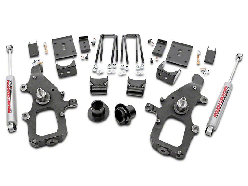 Rough Country 3 in. Front / 5 in. Rear Lowering Kit w/ Premium N2.0 Shocks (04-08 2WD)