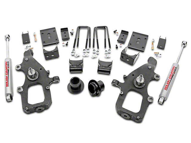 Rough Country 3 in. Front / 5 in. Rear Lowering Kit w/ Performance 2.2 Shocks (04-08 2WD)