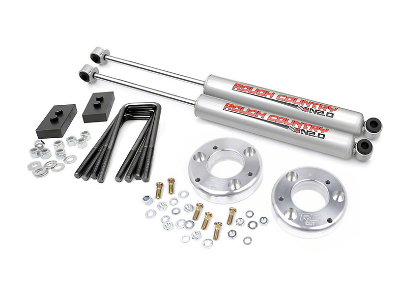 Rough Country 2 in. Leveling Lift Kit w/ Shocks (09-13 2WD/4WD, Excluding Raptor)
