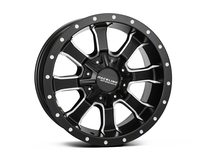Raceline Mamba Black Milled 6-Lug Wheel - 18x9 (04-18 All)