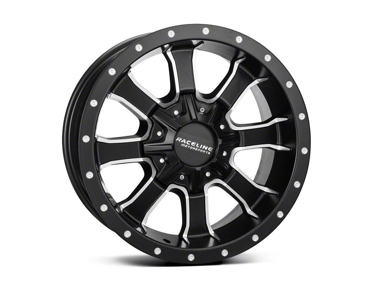 Raceline Mamba Black Milled 6-Lug Wheel - 18x9 (04-17 All)