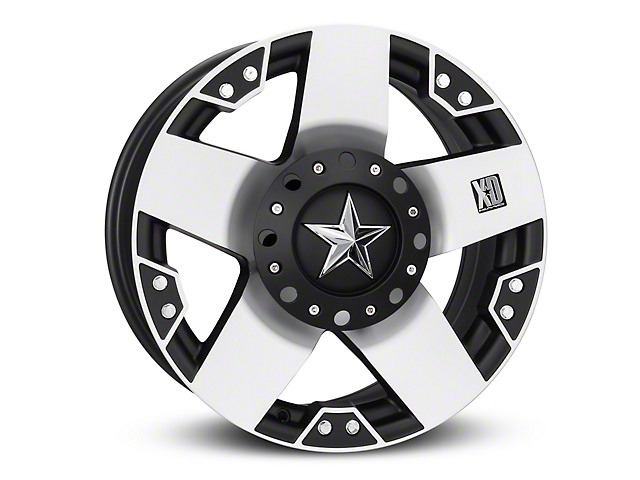 Rockstar XD775 Black Machined 6-Lug Wheel - 18x9 (04-17 All)