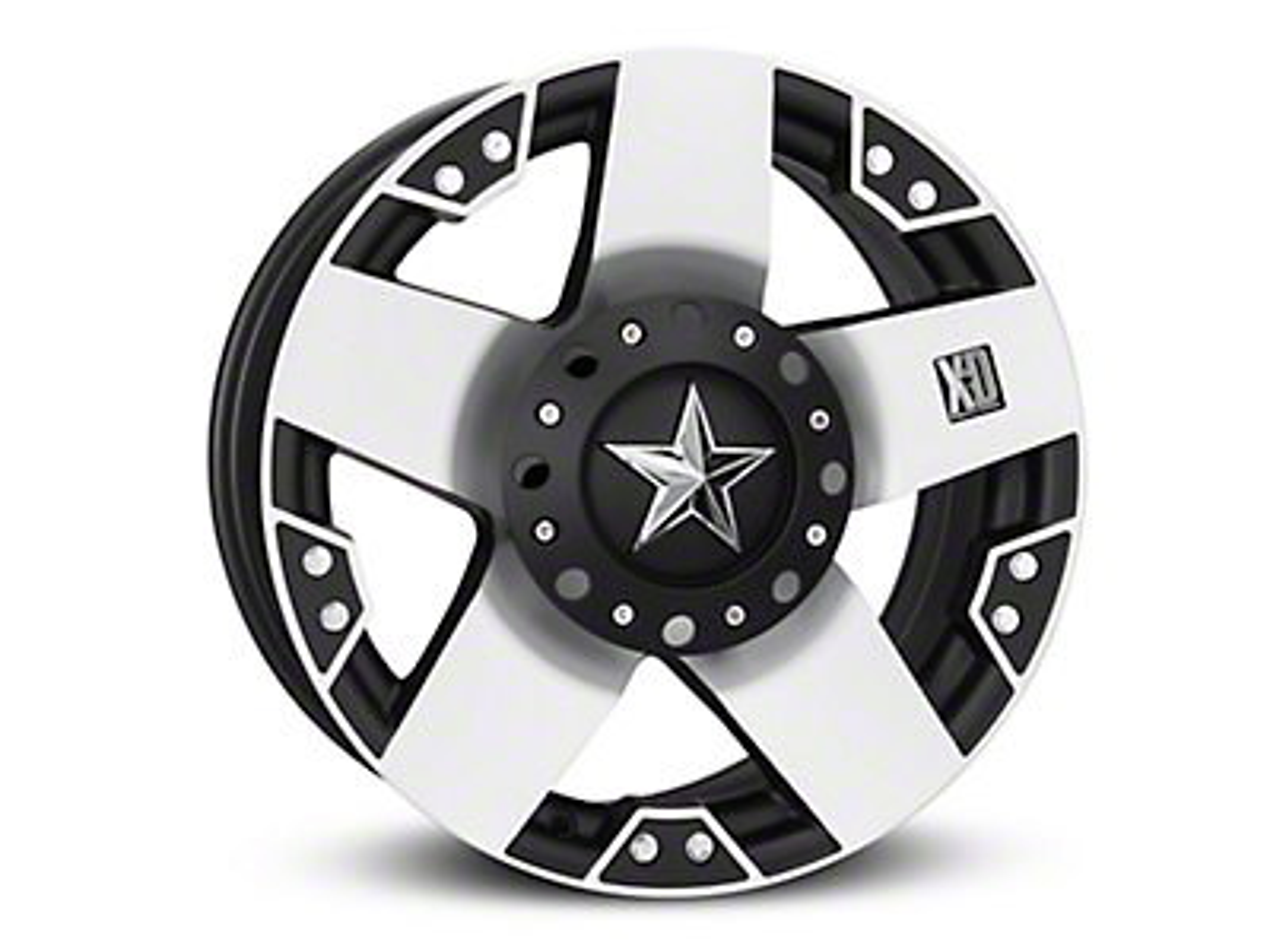 Rockstar XD775 Black Machined 6-Lug Wheel - 18x9 (04-18 F-150)