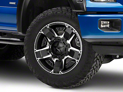 Rockstar XD811 RS2 Black Machined 6-Lug Wheel - 17x8 (04-18 F-150)
