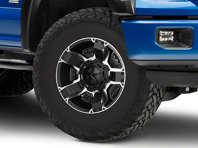 Rockstar XD811 RS2 Black Machined 6-Lug Wheel - 17x9; -12mm Offset (15-19 F-150)