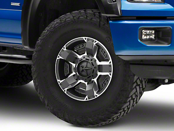 Rockstar XD811 RS2 Black Machined 6-Lug Wheel - 18x9 (04-18 F-150)