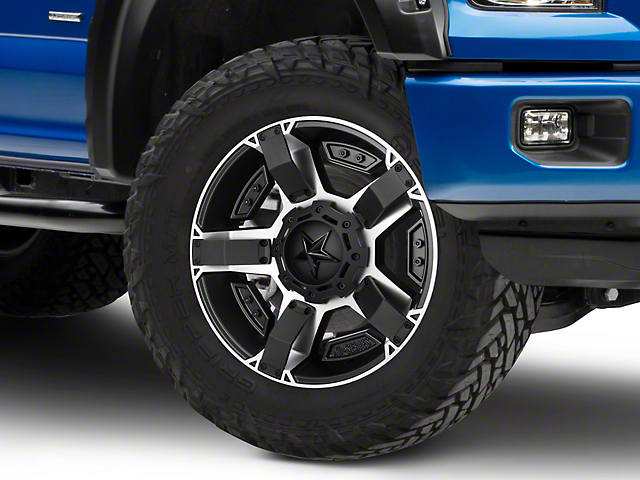 Rockstar XD811 RS2 Black Machined 6-Lug Wheel - 20x9 (15-19 F-150)