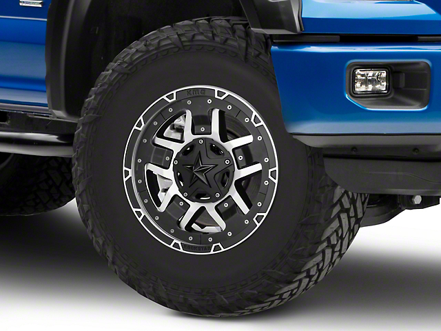 Rockstar XD827 RS3 Matte Black Machined 6-Lug Wheel - 17x8 (04-18 F-150)