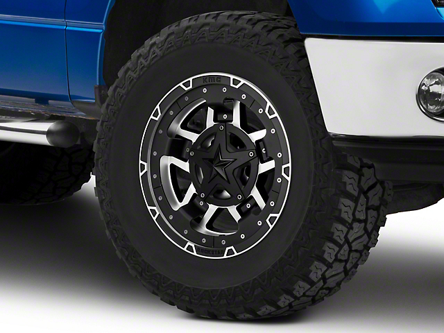 Rockstar XD827 RS3 Matte Black Machined 6-Lug Wheel; 17x9; -12mm Offset (09-14 F-150)