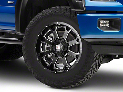 XD Buck 25 Gloss Black Milled 6-Lug Wheel - 20x9 (04-18 F-150)