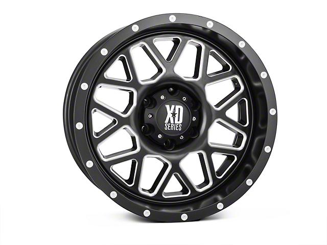 XD Grenade Satin Black Milled Wheel; 18x9 (07-18 Jeep Wrangler JK)
