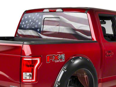 Sec10 F 150 Perforated Real Flag Rear Window Decal T530423 97 21 F 150