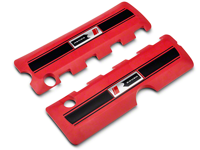 Roush Coil Cover Kit - Red (11-17 5.0L F-150)