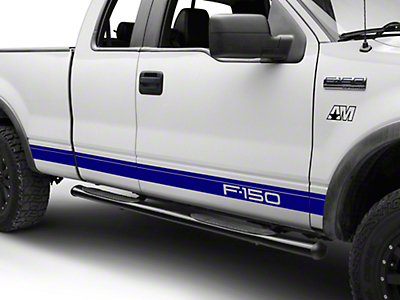 Blue Rocker Stripes w/ F-150 Logo (04-08 F-150)