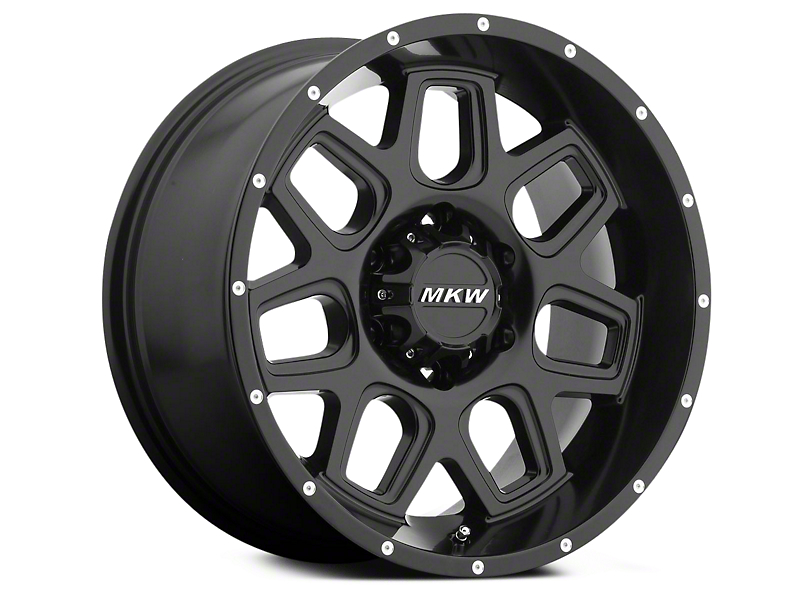 MKW Offroad M92 Full Satin Black 6-Lug Wheel - 18x9 (04-18 All)