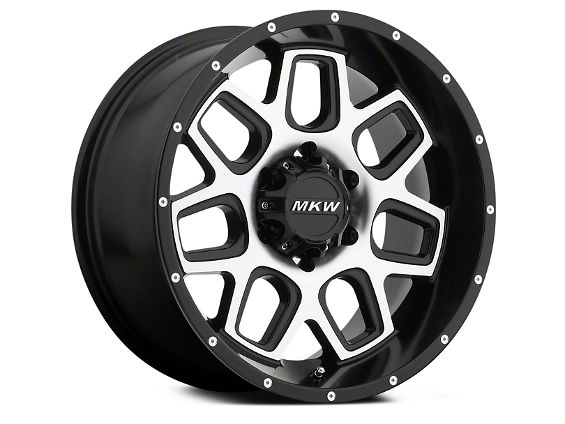 MKW Offroad M92 Satin Black Machined 6-Lug Wheel - 20x9 (04-18 All)