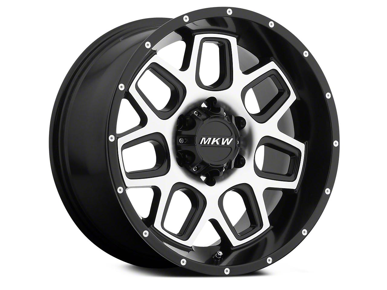 MKW Offroad M92 Satin Black Machined 6-Lug Wheel - 20x9 (04-18 All)