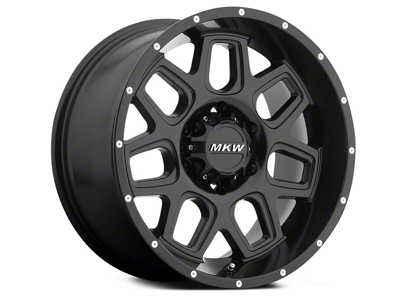 MKW Offroad M92 Full Satin Black 6-Lug Wheel - 20x9 (04-18 All)
