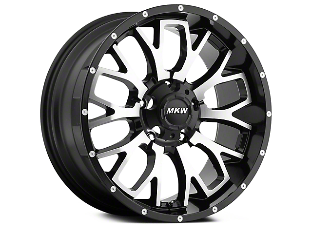 MKW Offroad M95 Satin Black Machined 6-Lug Wheel - 18x9 (04-17 All)