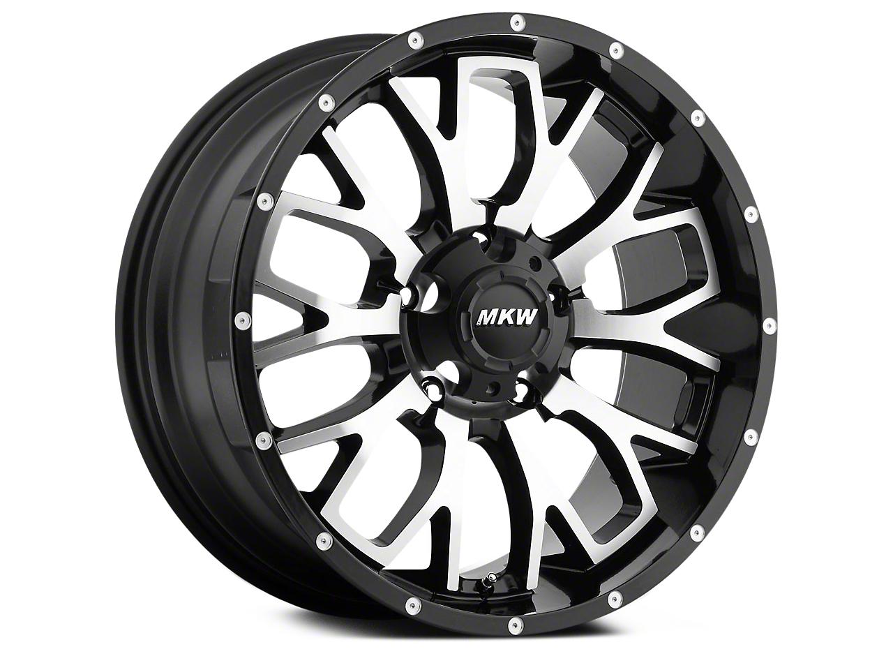 MKW Offroad M95 Satin Black Machined 6-Lug Wheel - 18x9 (04-17 All)