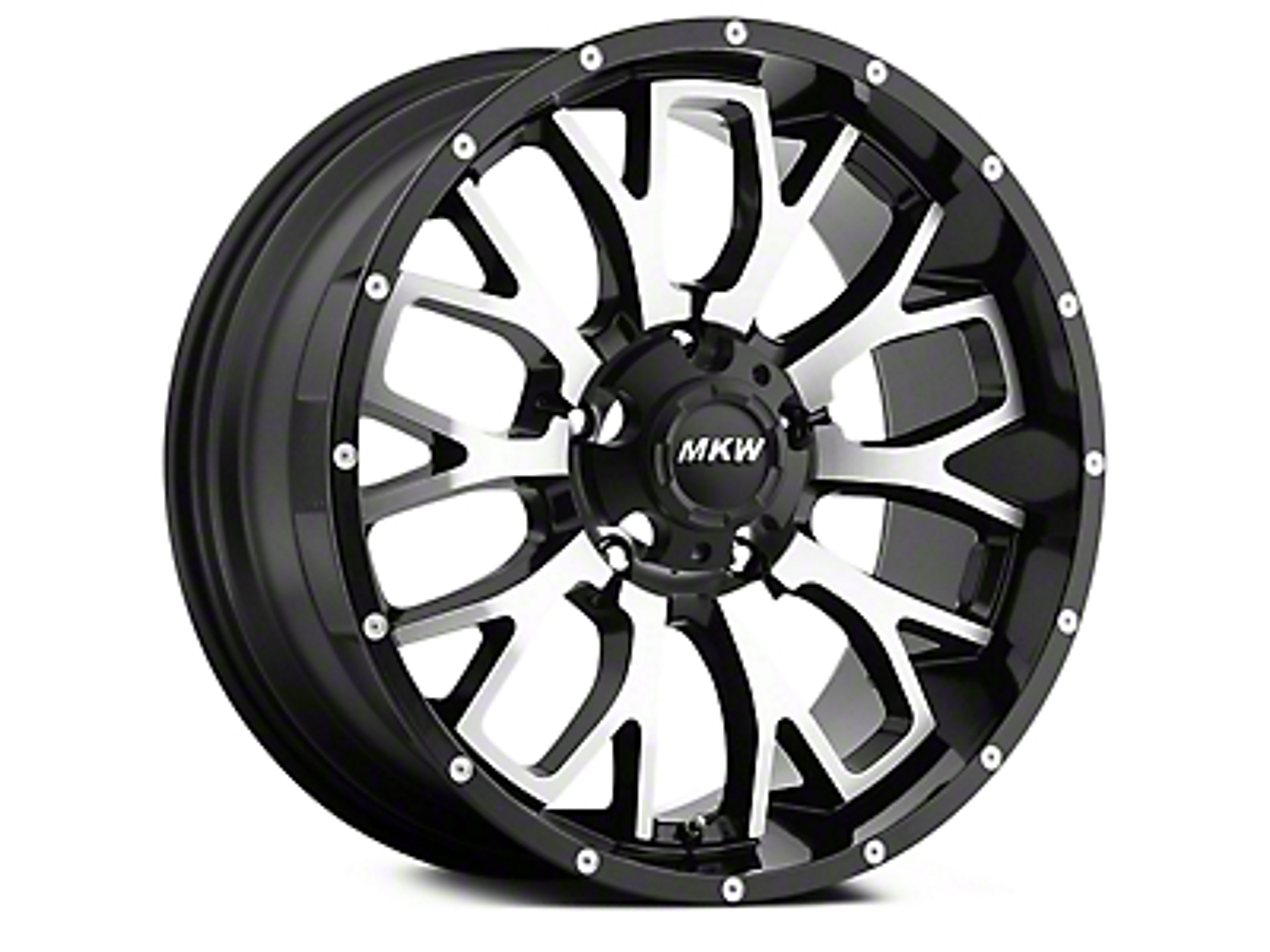 MKW Offroad M95 Satin Black Machined 6-Lug Wheel - 20x9 (04-18 All)
