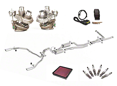 Borla True Dual Stinger S-Type Cat-Back System & BorgWarner Turbo Upgrade Kit - Split Rear Exit (11-12 3.5L EcoBoost)