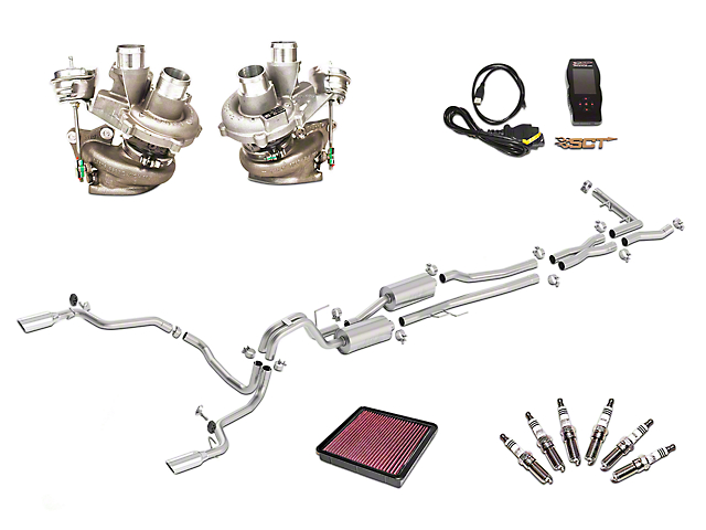 Borla True Dual Stinger S-Type Exhaust System & BorgWarner Turbo Upgrade Kit - Rear Exit (15-16 3.5L EcoBoost)